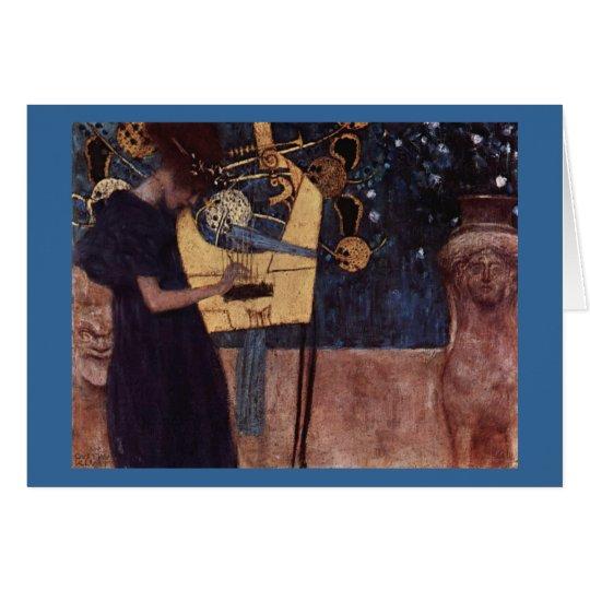 Klimt Gustav The Music Card