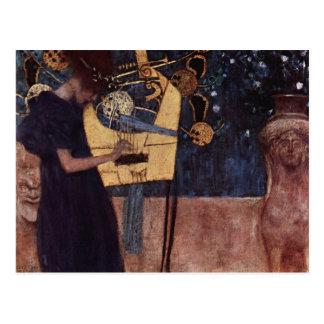 Klimt Gustav The Music Postcard