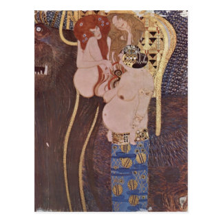 ¿Klimt, Gustavo Der Beethovenfries, Wandgem? lde i Tarjeta Postal