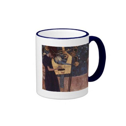 Klimt Gustavo la música Tazas De Café