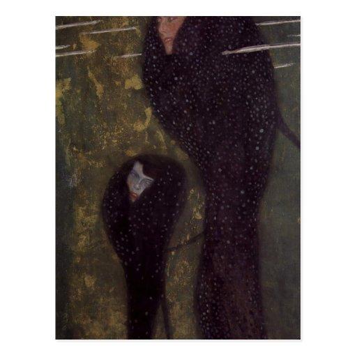 ¿Klimt, Gustavo muere la técnica 1889 de Sirenen?  Postales