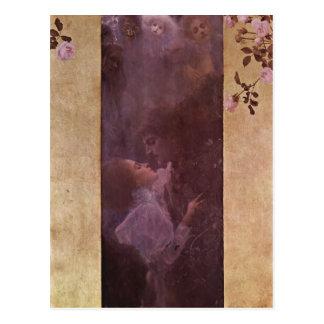 ¿Klimt, Gustavo muere la técnica 1895 de Liebe? l  Tarjeta Postal