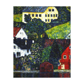 Klimt - Houses at Unterach on the Attersee Canvas Print