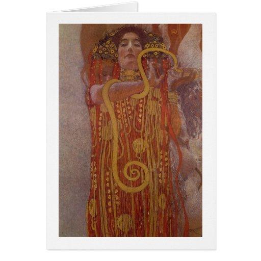 Klimt - Hygeia Tarjeta De Felicitación