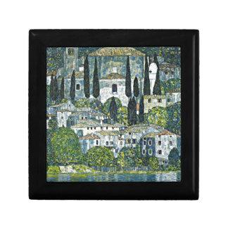 Klimt - iglesia en Cassone Joyero Cuadrado Pequeño