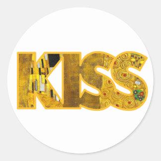Klimt inspired KISS sticker