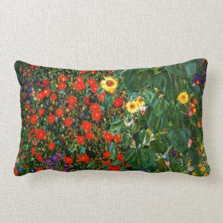 Klimt - jardín de la granja con los girasoles almohadas
