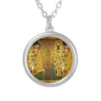 Klimt Kiss 2.gif Personalized Necklace