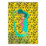 Klimt Kiss Greeting Card