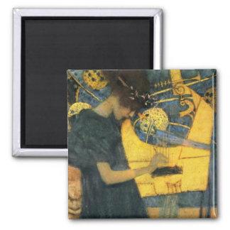 Klimt 2 Inch Square Magnet