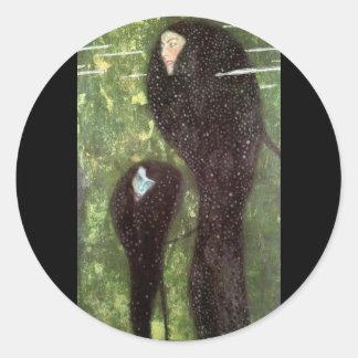 Klimt ~ Mermaids Classic Round Sticker
