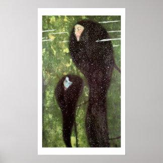 Klimt ~ Mermaids Poster