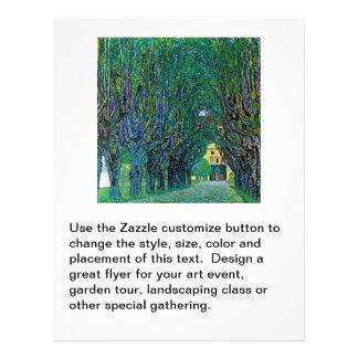 Klimt painting tree lined avenue landscape art flyers