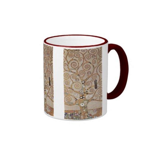 Klimt - Plant templates Stocletfries Ringer Coffee Mug