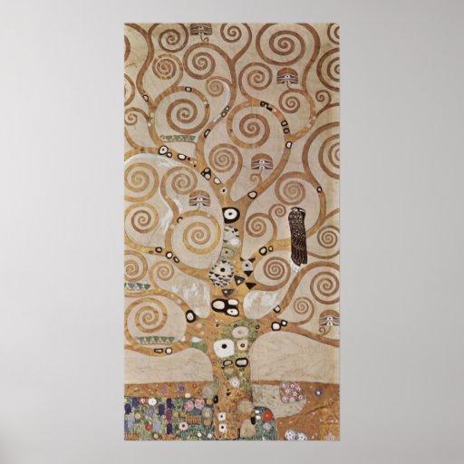 Klimt - Plant templates Stocletfries Print