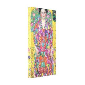 Klimt - Portrait of Eugenia (Mäda) Primavesi Canvas Print