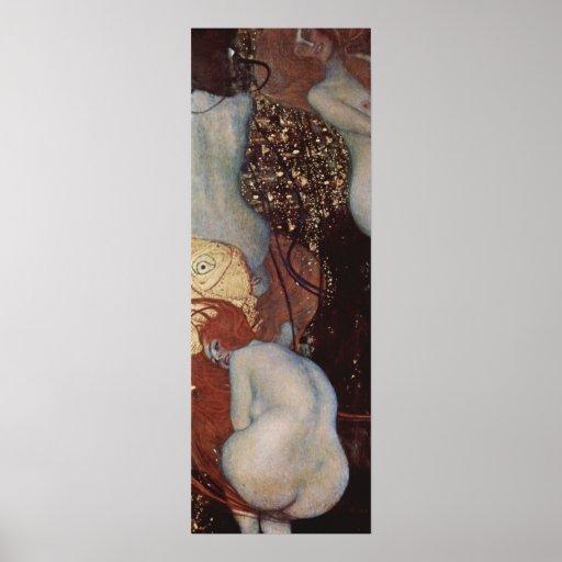 Klimt, poster del Goldfish de Gustavo