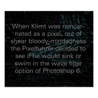 Klimt reincarnated as a pixel(Poster) Poster