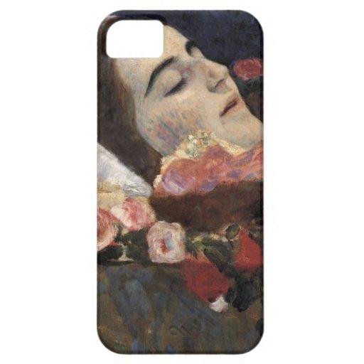 Klimt Ria Munk en su lecho de muerte iPhone 5 Carcasas