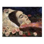 Klimt Ria Munk en su lecho de muerte Postal