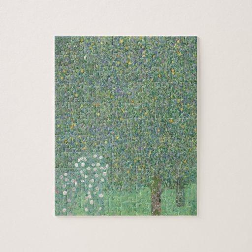 Klimt Rosebushes Under the Trees Jigsaw Puzzle