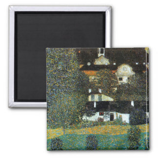 Klimt - Schloss Kammer am Attersee II 2 Inch Square Magnet