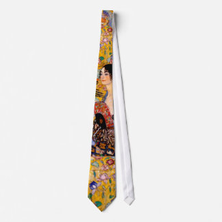 Klimt, señora con una fan corbatas