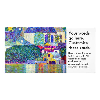 Klimt St Wolfgang church in Unterach on Lake Atter Photo Card