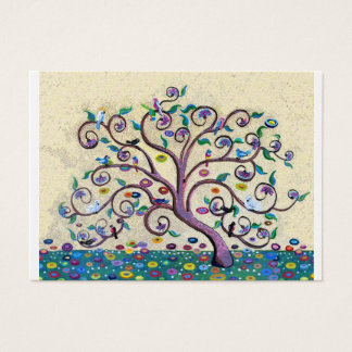 Klimt style tree business card