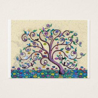 Klimt style tree business card