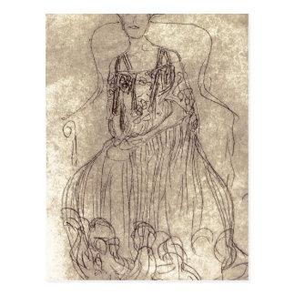 ¿Klimt sumario, Gustavo Studie f? ¿gema de r das?  Tarjeta Postal