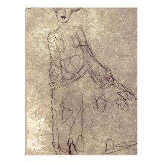¿Klimt sumario, Gustavo Studie f? ¿gema de r das?  Tarjetas Postales
