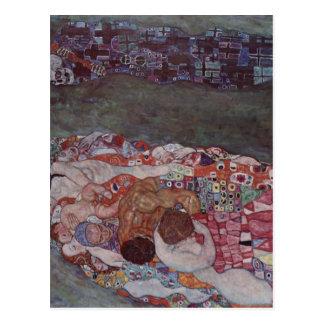 ¿Klimt, técnica 1908-1911 de Tod del und de Gustav Tarjeta Postal