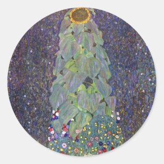 Klimt ~ That is Sonnenblume Classic Round Sticker