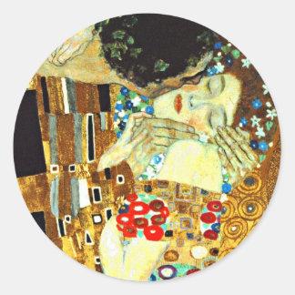 Klimt - The Kiss Classic Round Sticker