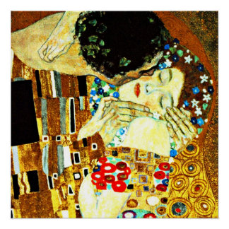 Klimt - The Kiss (closeup), Gustav Klimt painting Poster