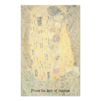 Klimt The Kiss Faux Handmade Paper Stationery