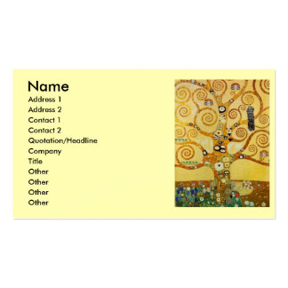 Klimt Tree of Life Business Card Template