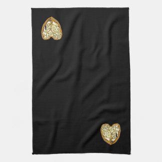 Klimt Tree of Life Heart Kitchen Towel