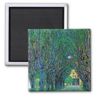 Klimt way to the park avenue in schloss kammer art refrigerator magnets