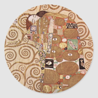 Klimt - Werkvorlagen zum Stocletfries Classic Round Sticker