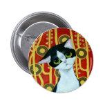 Klimt's Cat Buttons
