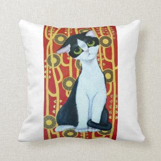 Klimt's Cat Throw Pillow
