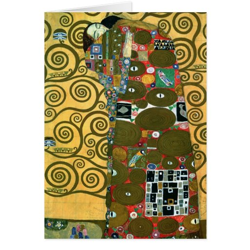 Klimt's Fulfillment (The Embrace) Card