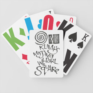 Klimt's Missing Whorl & Square Bicycle Playing Cards
