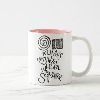 Klimt's Missing Whorl & Square Two-Tone Coffee Mug