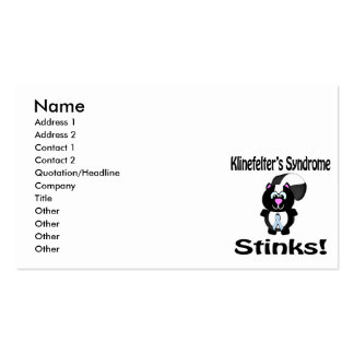 Klinefelters Syndrome Stinks Skunk Awareness Desig Business Card