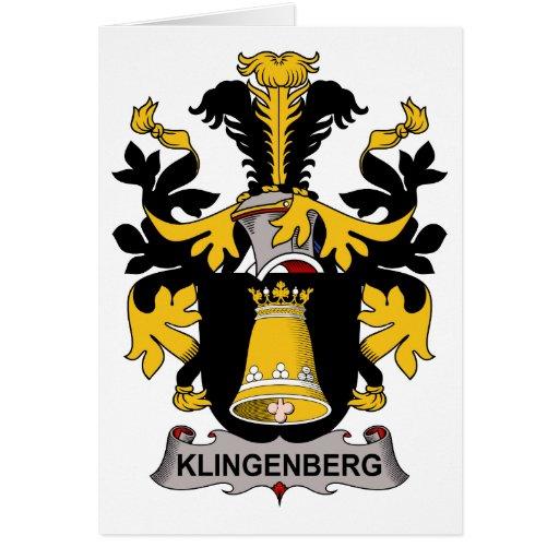 Klingenberg Family Crest Greeting Card