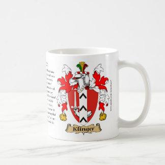 Klinger el origen el significado y el escudo taza