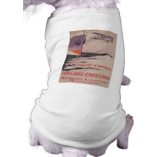 KLM Lucht-Expreso Camisa De Mascota